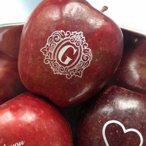 Fun to Eat Fruit Edible Wedding Favors Monogram