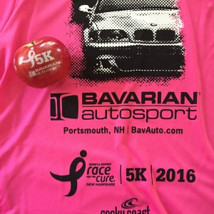 Susan G. Komen NH 5K Race for the Cure Fun to Eat Fruit apples sponsored by Bavarian Autosport