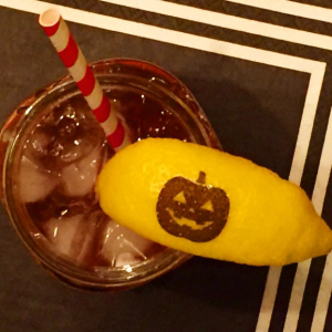 Fall Halloween Drink Garnish Fun to Eat Fruit lemon