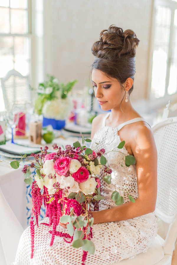 The Perfect Palette modern garden wedding stunning bride by NOVAES PHOTOGRAPHY