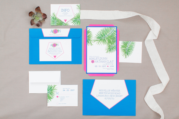 The Perfect Palette modern garden wedding invitation suite NOVAES PHOTOGRAPHY