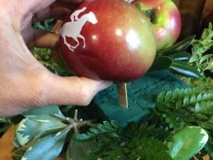 Pinewoods Yankee Farm Fun to Eat Fruit Kentucky Derby centerpiece 2017e