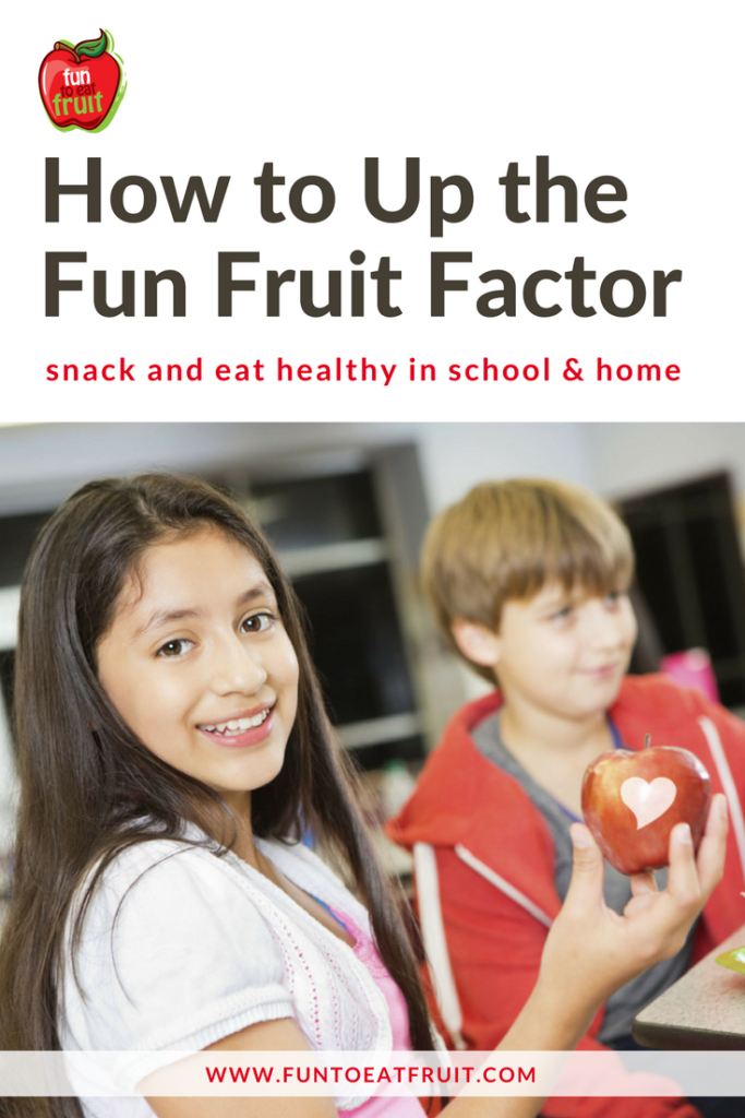 Learn how to increase student apple consumption at snack or lunchtime by adding the fun fruit factor!