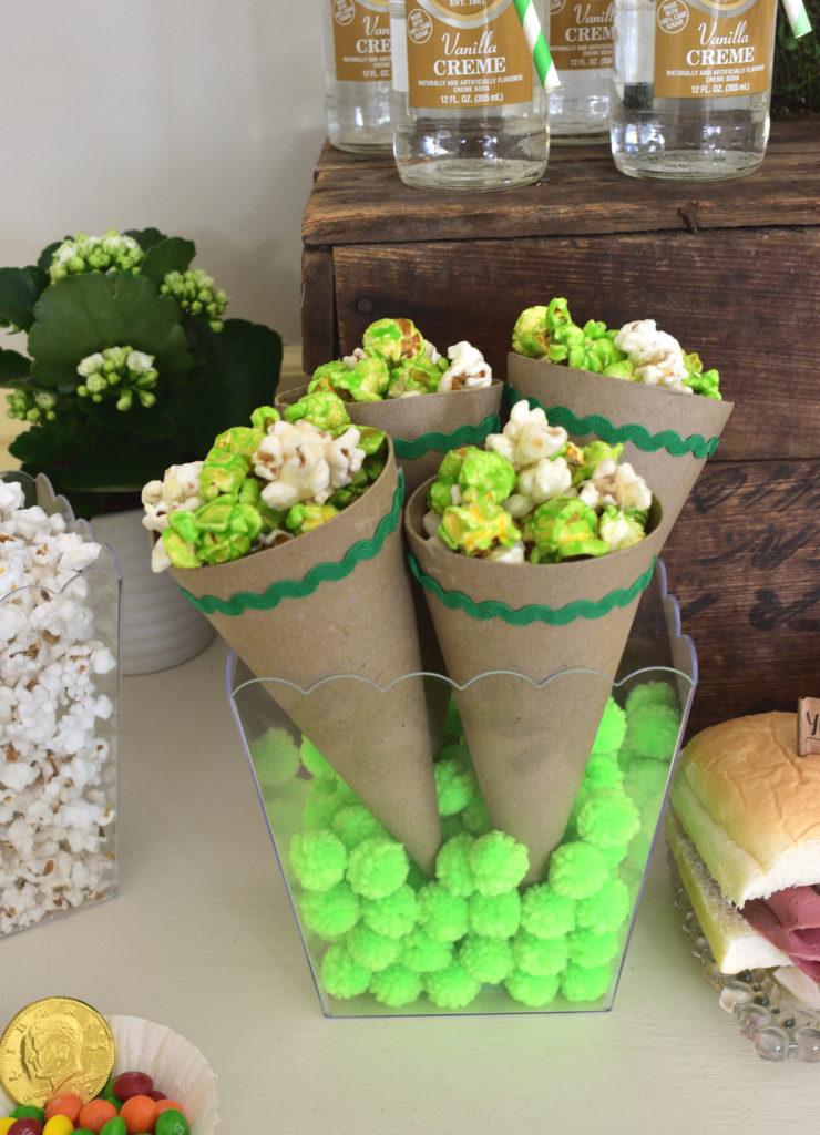 Saint Patricks Day Green Popcorn