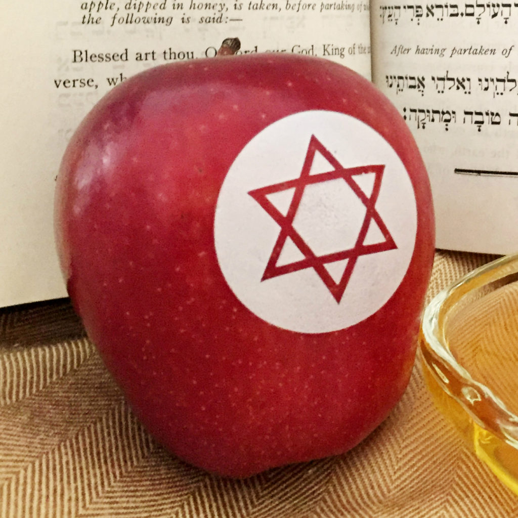 For Rosh Hashanah, surprise your guests with Fun to Eat Fruit apples! Choose from 2 edible, Judaic designs! We ship the apples washed, imprinted and ready-to-enjoy! www.funtoeatfruit.com #RoshHashanah #RoshHashana #Jewish #Apples #Favors #JewishFood