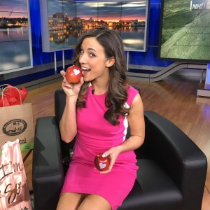 WBINTV NH1 Reporter Loves Fun to Eat Fruit Valentines Day