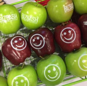 Happy Biz Bash Fun to Eat Fruit Apples