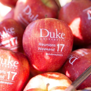 Duke University Reunion Weekend 2017 custom Fun to Eat Fruit apples