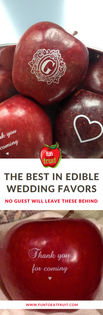 Fun to Eat Fruit is Top Edible Wedding Favor says Bridal Guide