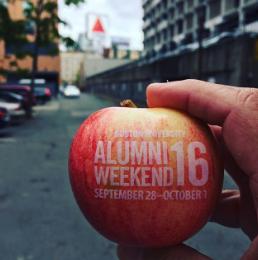 Fun to Eat Fruit for BU Alumni Weekend 16
