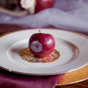 Monogrammed Fun To Eat Fruit Wedding Favors