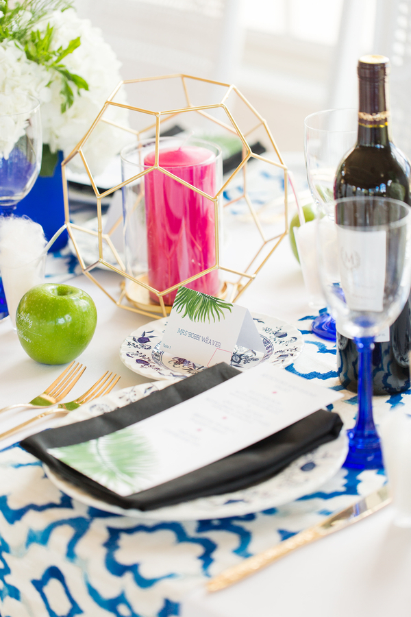 The Perfect Palette modern garden table detail with Fun to Eat Fruit by NOVAES PHOTOGRAPHY