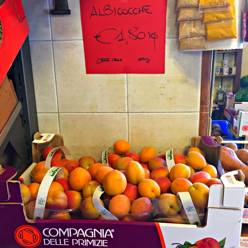 Encountered delicious apricots in Italy