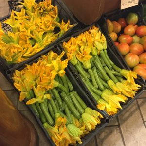 Fun to Eat Fruit Grocer in Italy Zucchini Blossoms