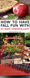 How to Have Fall Fun with an Apple Tailgating Party / Tailgating party ideas for entertaining with fun fall party ideas / creative tailgating food ideas for fall parties with apple pie and custom apples from Fun to Eat Fruit www.funtoeatfruit.com / styling by Giggle Living