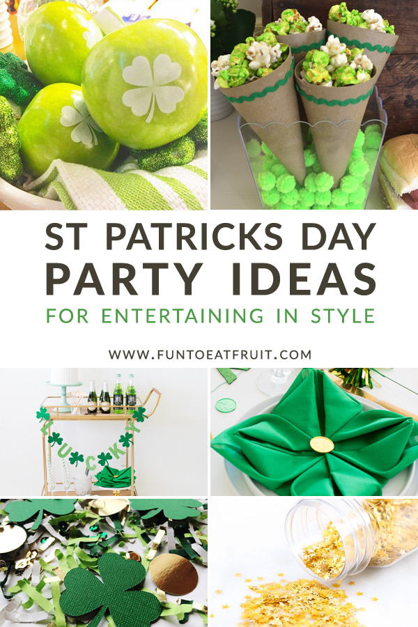 Go for the Green: Green Apples with Shamrocks and more for Saint Patricks Day Party Favors! Click the image for party ideas to entertain in style from Fun to Eat Fruit, Giggle Living, FestiveFetti, Twinkle Twinkle Little Party, Baker's Party Shop. www.funtoeatfruit.com #stpatricksday #stpatsday #shamrocks #partyideas #partyfavors #stpatricksdayparty #apples #favorideas #creativeparties
