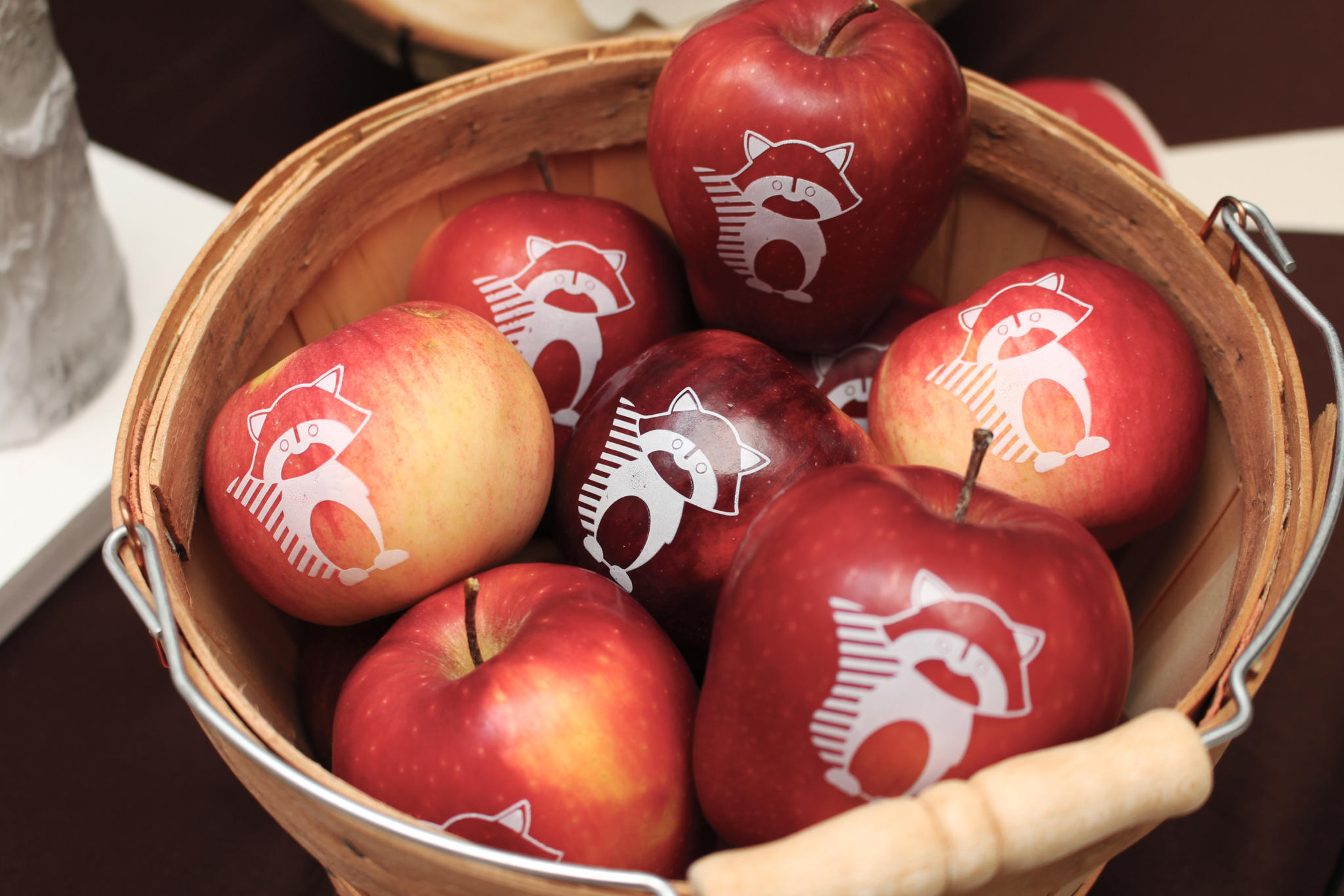 For a healthy favor for your Woodland Birthday Party, how about fun raccoon apples by Fun to Eat Fruit? Click for 11 more ideas for your rustic woodland party on www.funtoeatfruit.com. Party styling by Crowning Details. #woodlandparty #partydecor #birthdayparty #kidsbirthday #partyideas #partyinspiration #apples #ediblefavors