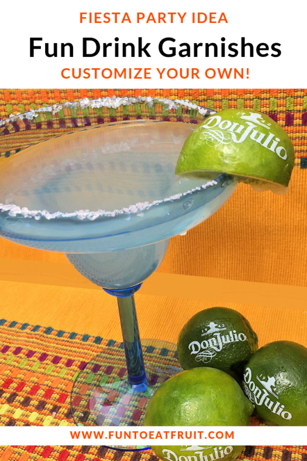 Spice up your Cinco de Mayo party or fiesta! Be sure to serve the perfect margarita or cocktail with our citrus garnishes that we personalize for you! We customized fresh limes, lemons, and oranges with your favorite saying or image to add allure to each and every cocktail or mocktail you serve. Click to order today! www.funtoeatfruit.com #cincodemayopartyideas #fiestaparty #partyideas #cocktailgarnish #cocktails #bartending