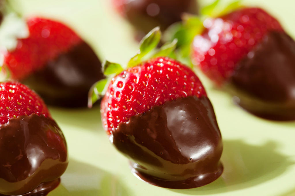 Have an abundance of freshly picked strawberries? For a delicious summer treat, dip them in chocolate and we have the recipe for you! Check out our 3 easy, favorite recipes with fresh strawberries for entertaining friends! www.funtoeatfruit.com #strawberries #summerrecipes #fruit #strawberryrecipes