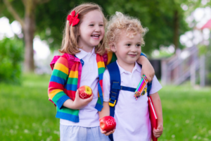 Looking for some back to school fun in the classroom or at home for your kiddos? We're sharing 6 ideas for parents and teachers, from scavenger hunts to custom, Fun to Eat Fruit imprinted green apples for snacking and lunchboxes! www.funtoeatfruit.com #backtoschoolideas #classroomideas #healthysnacks #firstdayofschoolactivities #schoollunchideas #apples